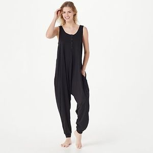 NEW AnyBody Cozy Knit Romper With Button Detail